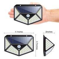 2021 3 모드 LED 태양 광 램프 PIR 모션 센서 가든 에너지 절약 거리 야외 조명 벽