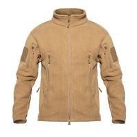 Men's Jackets TAD Winter Warm Fleece Tactical Men Windproof Thicken Multi-pocket Casual Hoodie Coat Clothing
