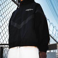 Veste de brise-vent à capuche occasionnel surdimensionnée d'anorak pour hommes