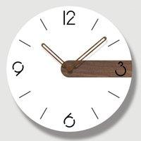 Настенные часы творческий немой современный дизайн большие часы молчаливые для домашней кухни гостиная декор аккумулятор работают1