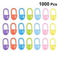 1000pcs / Paketi Plastik Kilitleme Dikiş İşaretleyiciler Örgü Dikiş Sayıcı Tığ İğne Dikiş Örgü Yardımcı Aracı Mix Renk Klip