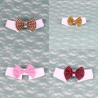 Belle nœud nœud cravate facile à nettoyer fausses cravates d'autocollant pour chien collier bijoux vêtements de mode accessoires de mode 4Gya K2