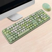 2. 4g Wireless Bluetooth Mechanical Keyboard And Mouse Set Fa...