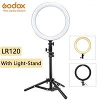 Blitzköpfe GODOX LR120 LED Ringlicht mit Lichtständer-POGRY-BI-COLOR 3000K-6000K-Lampen für Video YouTube Ringlight Makeup Light1