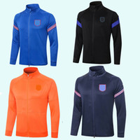 Kinder Jogging Sporttraining Set 2020 2021 Frankreich Englaus-Lond Netherlands Kinder Fußball Überlebensjacke Anzug Trainingsanzug