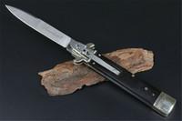 Новый черный Итальянская мафия Складной нож D2 лезвия Horn Ручка + латунь Ручка для кемпинга Тактические Италия AUTO Быстро Открыть BENCHMADE BM42 EDC Tool