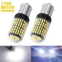 2PCS 1156 BA15S P21W LED Canbus 3014 SMD 144 شرائح LED لمبة لا obc خطأ 7506 مصباح أبيض للسيارة النسخ الاحتياطي عكس ضوء 1
