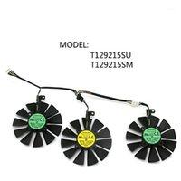 T129215SM T129215SU VGA Cooler Gráficos RX480 / 580 Ventilador Para Asus Strix R9 390x / R9 390 RX480 RX580, Refrigeración de Ta1