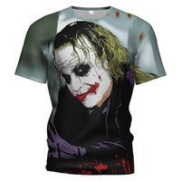Clown maquillage groupe soul Chevalier impression chemise noire clown maquillage Batman 3D maquillage Halloween chemise drôle