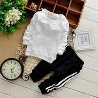 Bebé meninos meninas roupas conjuntos outono casual criança roupas roupas camisolas 2 pcs bebê esportes roupas ternos 1set / 2pcs