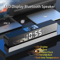 LED TV Sound Bar Alarm Clock AUX USB Wired Wireless Bluetooth Speaker Home Theater Surround SoundBar for PC TV Computer Speaker LJ201027