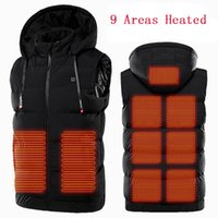 Heating Vest Jacket Men Usb Charging Outdoor Thermal Winter Warm Clothing Waistcoat Male Hooded Seelveless Heating Vest 2020