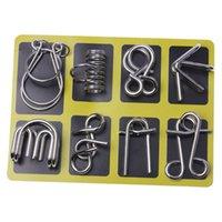 Xmy anneau chinois éducatif puzzle jouet pleut métal non-consacre casse-tête bok cadeau en anglais VERSION LUBAN LOCK