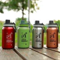 580ml / 880 ml Su Şişesi Spor Paslanmaz Çelik Çift Duvar Termal Drinkware Taşınabilir Vakum İçecek Şişeleri Sıcak Su Isıtıcısı 201127