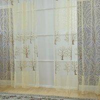 Cortinas girassol novo floral tulle janela janela screening cortina sheer painel de drape cachecol valances prega nova chegada1