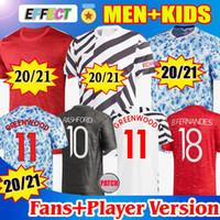 Maglia da calcio Manchester united 2020 2021 Versione giocatore POGBA SANCHO BRUNO FERNANDES RASHFORD Maglia da calcio in jersey 20 21 uomo + kit per bambini JERSEYS