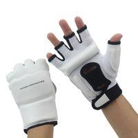 قفازات نصف الإصبع قفازات ميتس ساندا الكاراتيه الرملية حقيبة Taekwondo حامي سن 3-12