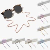 2020 شيك نظارات القراءة سلسلة لحبال كاندي اللون مطرز نظارات سلسلة نساء المعدن النظارات الشمسية الرقبة حبل لنظارات النساء