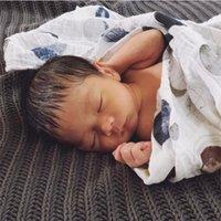 Karitree bebê verão 100% muslin algodão único camada de bebê toalha recém-nascido cobertor bebê swaddle envoltório infantil 120x120cm 150g 201106