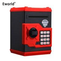 Eworld Hot New Piggy Bank Mini ATM Money Box Безопасность Электронный пароль Жевание Монета Монета Депозит Машина Подарок для детей Kids 201125