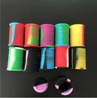 Nouveau 11ml contenant imprimé pot récipient silicone cire concentré cire Conteneur silicone Pot pour cire Pot silicone Dab