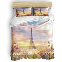 Bettwäsche Sets Paris Frankreich Architektur Kunst Europa Bettbezug Set 2/3 / 4 stücke Bettblatt Kissenbezüge