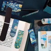 Signets magnétiques créatifs Van Gogh Littérature Art DIY Décoration Signets Papeterie Student Office de bureau