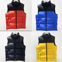Top Quality Mens Down Vests Stand Collar Sleeveless Parkas Sport Style Mens Casual Vest Coat Mens Clothing 5 Colors Size XS-2XL