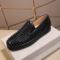 Platform Shoes Mens Shoes Sparkling Diamond Spikes Rivetti Blu Rosso Bianco Black Slip on Designer Sneakers Scarpe casual in pelle