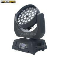2pcs / lot LED Zoom Moving Head Washer Light Pro 36x10W RGBW 4in1 Bühnenbeleuchtung für Hochzeit Bühne Nachtclub-Party-Dekoration