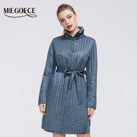 Kemer Kadınlar Sıcak Jacket 201012 ile MIEGOFCE Yeni Bahar Koleksiyonu Sıcak Pamuk Kadın Coat Yüksek Orta Kalite Uzun ömürlü Yaka