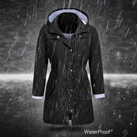 النساء كبير جدا معاطف المطر سترة الصلبة في الهواء الطلق سترة مضادة للماء مقنع معطف واق من المطر صامد للريح زيبر ملابس السيدات معاطف 2020