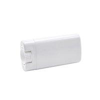 Taşınabilir DIY 15 ml Plastik Boş Oval Deodorant Sopa Kapları Temizle Beyaz Moda Dudak Balsamı Ruj