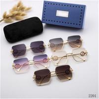 Erkek Güneş Gözlüğü Moda Spor Çerçevesiz Gözlük Metal Çerçeve Buffalo Boynuz GC Güneş Gözlükleri Siyah Pembe Lensler Altın Gümüş óculos