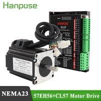 NEMA23 Loop fechado 1,3N.M Servo Motor Stepper Motor 4A 57EH56A4001 com CL57 Hybrid Step-Servo Driver CNC Controller Kit