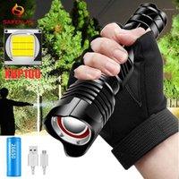 Lanternas Tochas Zoom Poderoso LED Tocha XHP100 XHP70 USB recarregável lâmpada de caça impermeável 26650 18650 Battery Cycling Light1