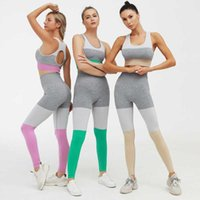 OEM Femmes Gym Custom Compression Compression Transparente Collants Ensemble Leggings Sport de sport Yoga Sport