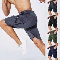 Homens shorts homens pant com bolso mens joelho-comprimento elástico elástico cintura suor shorts de verão # 0318g301