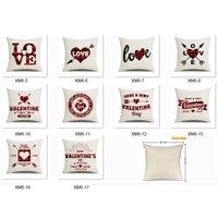 عيد الحب رمي وسادة غطاء 18 بوصة وسادة القضية ل ديكور المنزل القلب الحب وسادة الحالات أريكة الأريكة ديكورات jk2101 ساعة