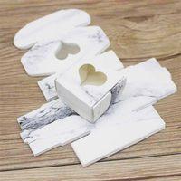 Kraft Hediye Paketi Kağıt Kutusu ile Şeffaf PVC Pencere Sabun Şeker Hediyeler Ambalaj Düğün Şeker Şeker Kutuları 235 N2