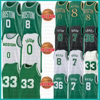 Boston Celtics Mens Youth Kid's Jayson 0 Tatum Larry 33 Bird Basketball Jersey Kemba 8 Walker Jaylen 7 Brown Marcus 36 Smart Retro Mesh Jerseys 2021 New
