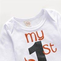 Vêtements nouveau-nés Définir ma première lettre d'Halloween Lettre bébé filles vêtements Ensemble lettre Body Baby Black Jupes Socks Baby Girls Set LJ201223