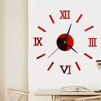 3d النسخة الحائط 3d متعدد الألوان الأرقام الرومانية مرآة مجسمة لصق diy ديكور المنزل الساعات الحديثة نمط جديد وصول 6yya F2