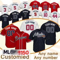 Atlanta 2020 Ronald Acuna Jr Jersey S-6XL Ozzie Albies Freddie Freeman Dansby Swanson Shane Greene Tyler Flowers custom baseball jerseys