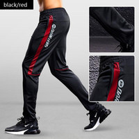 Sport Pants Men Running Pants With Zipper Pockets Training a...