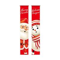 Christmas Door Link Welcome Merry Christmas Hanging Door Banner for outdoor decoration