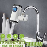 3000W Kitchen Faucet Electric Faucet Water Heater Instant Hot Water Digital LCD Displayelectric Tankless Fast Heating Water Tap Free