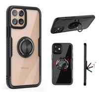 Pour iPhone 12 Mini 11 Pro Max XS XR 8 7 6 Plus Samsung Note 20 S20 S21 Armure Bague Clear Defender Castand