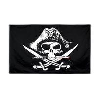 Deadman Chest Piraten-Flagge Kasten des toten Mannes Schädelknochen Jolly Roger Flags 3X5 Fuß Crossbone Piraten-Banner Creepy Ragged