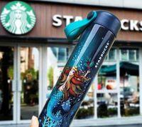 Горячие последние New 16Z Starbucks из нержавеющей стали вакуумная колба 11 в стиле сопутствующей чашки Деревянные зерна Кофейная чашка USP Бесплатная доставка